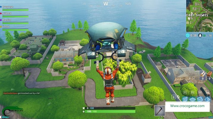 محل نقشه گنج Snobby Shores در بازی Fortnite