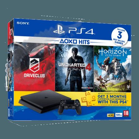 خرید کنسول PS4 Slim 500GB سه بازی + پلاس سه ماه