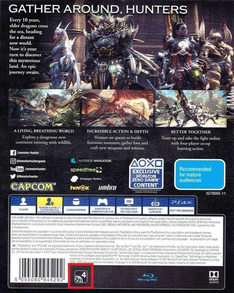 ریجن Region بازی های PS4