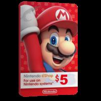 خرید گیفت کارت 5 دلاری Nintendo