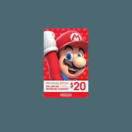 خرید گیفت کارت 20 دلاری Nintendo