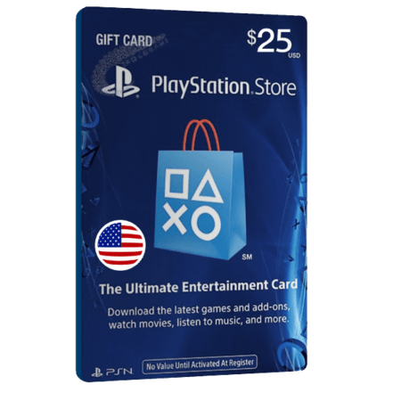 خرید گیفت کارت 25 دلاری Playstation آمریکا