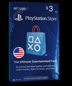 خرید گیفت کارت 3 دلاری Playstation آمریکا
