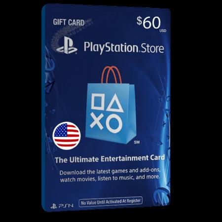 خرید گیفت کارت 60 دلاری Playstation آمریکا