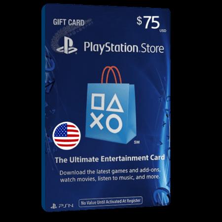 خرید گیفت کارت 75 دلاری Playstation آمریکا