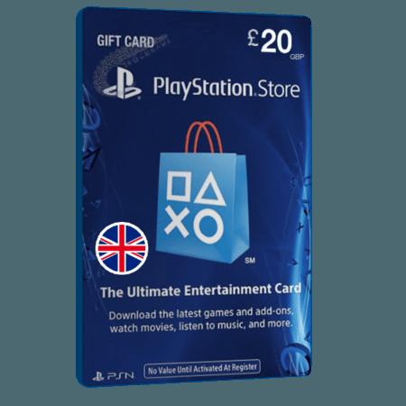 خرید گیفت کارت 20 پوندی Playstation انگلیس