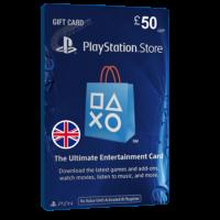 خرید گیفت کارت 50 پوندی Playstation انگلیس