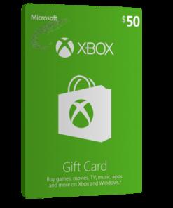 خرید گیفت کارت 50 دلاری XBOX