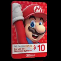 خرید گیفت کارت 10 دلاری Nintendo