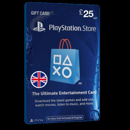 خرید گیفت کارت 25 پوندی Playstation انگلیس