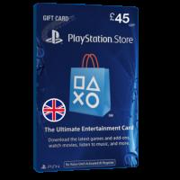 خرید گیفت کارت 45 پوندی Playstation انگلیس