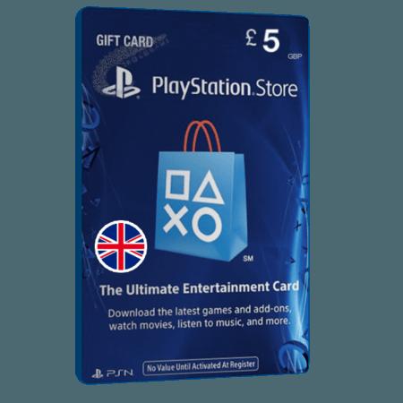 خرید گیفت کارت 5 پوندی Playstation انگلیس