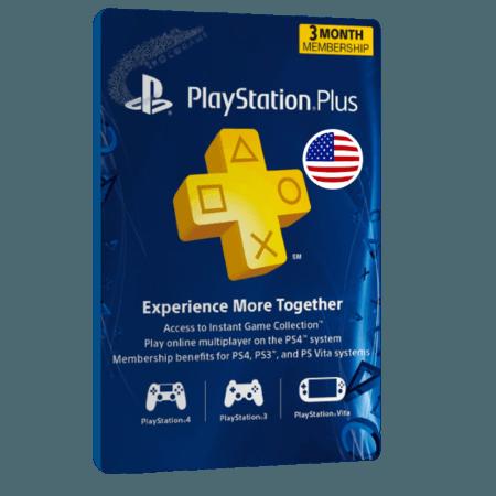 خرید گیفت کارت 3 ماهه Playstation Plus آمریکا
