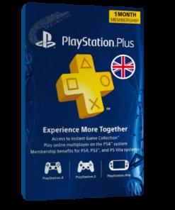 خرید گیفت کارت ۱ ماهه Playstation Plus انگلیس