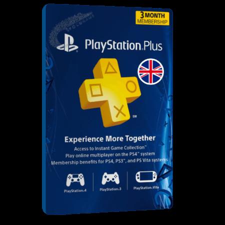 خرید گیفت کارت 3 ماهه Playstation Plus انگلیس