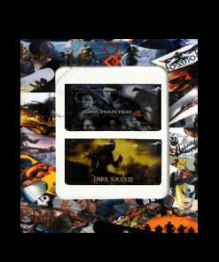خرید استیکر تاچ پد PS4 طرح Uncharted4 - Dark SoulsIII