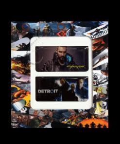 خرید استیکر تاچ پد PS4 طرح Cyberpunk-Detroit