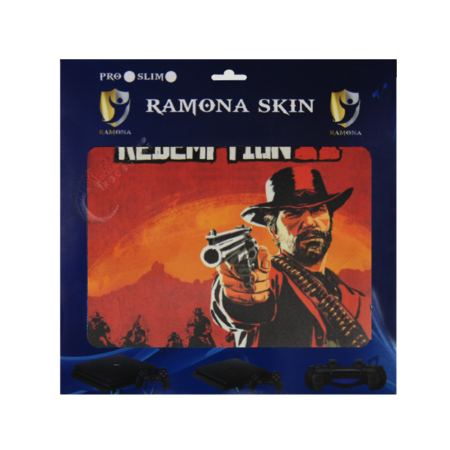 خرید Skin برچسب PS4 Slim طرح Red Dead Redemption 2