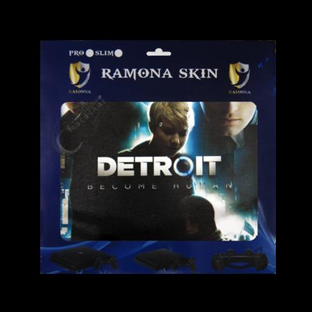 خرید Skin برچسب PS4 Slim طرح Detroit
