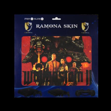 خرید Skin برچسب PS4 Slim طرح Wolfenstein 2