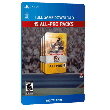خرید بازی دیجیتال Madden NFL 17 Ultimate Team 15 All Pro Packs