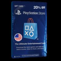 خرید گیفت کارت 20% تخفیف Playstation آمریکا