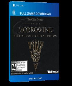 خرید بازی دیجیتال The Elder Scrolls Online Morrowind Digital Collector's Editionبرای PS4