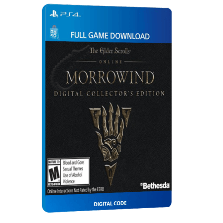 خرید بازی دیجیتال The Elder Scrolls Online Morrowind Digital Collector's Edition برای PS4