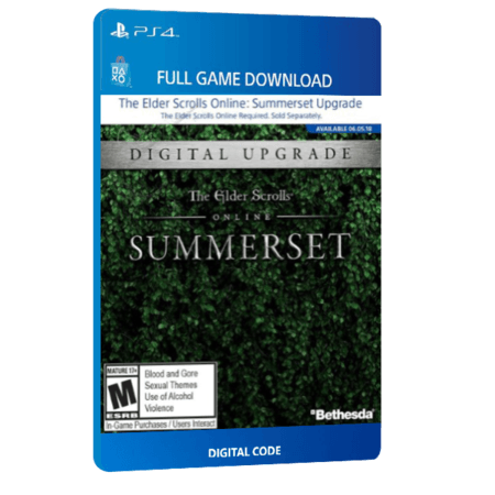 خرید بازی دیجیتال The Elder Scrolls Online Summerset Standard Edition Upgrade برای PS4