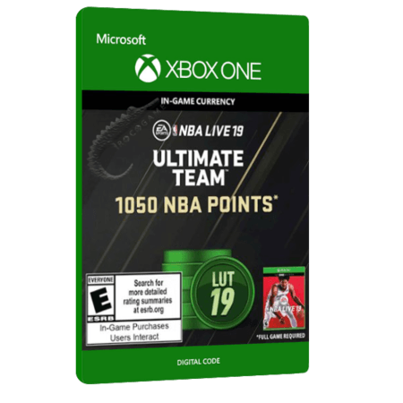 خرید بازی دیجیتال NBA LIVE 19 Ultimate Team 1,050 NBA Points برای Xbox One