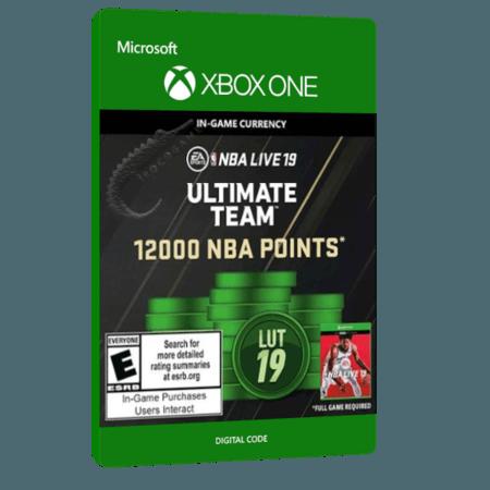 خرید بازی دیجیتال NBA LIVE 19 Ultimate Team 12,000 NBA Points برای Xbox One