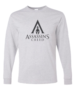 خرید تی شرت آستین بلند خاکستری طرح اساسینز کرید