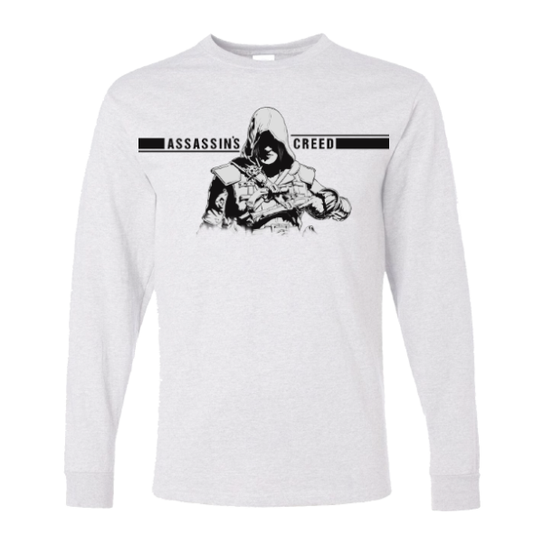 خرید تی شرت آستین بلند سفید طرح اساسینز کرید