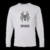 خرید تی شرت آستین بلند خاکستری طرح اسپایدر