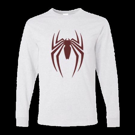 خرید تی شرت آستین بلند سفید طرح اسپایدر