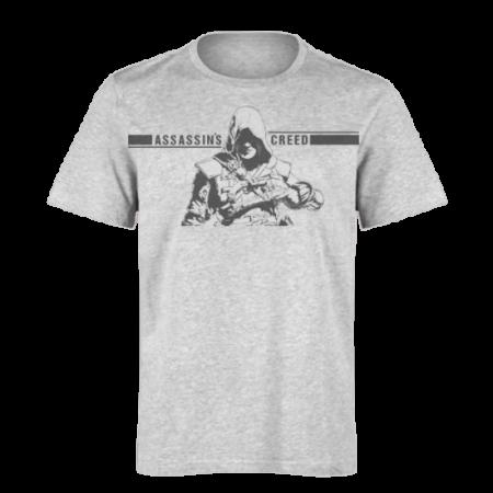 خرید تی شرت خاکستری طرح اساسینز کرید 1