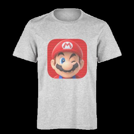 خرید تی شرت خاکستری طرح ماریو 2