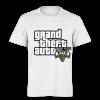 خرید تی شرت سفید طرح جی تی ای پنج 2