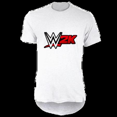 خرید تی شرت لانگ سفید طرح دبلیوتوکی
