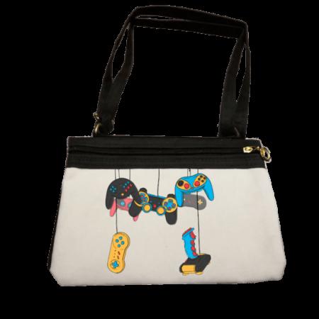 خرید کیف رودوشی زنانه طرح دسته های کنسول های بازی