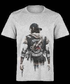 خرید تی شرت خاکستری طرح دیز گان 1