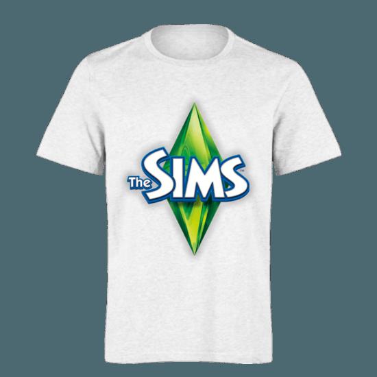 خرید تی شرت سفید طرح د سیمز 1