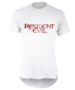 خرید تی شرت لانگ سفید طرح رزیدنت ایول 1
