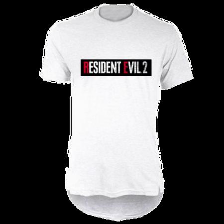 خرید تی شرت لانگ سفید طرح رزیدنت ایول 2