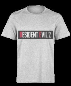 خرید تی شرت خاکستری طرح رزیدنت ایول دو 1