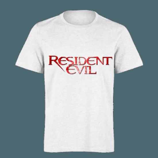 خرید تی شرت سفید طرح رزیدنت ایول 1
