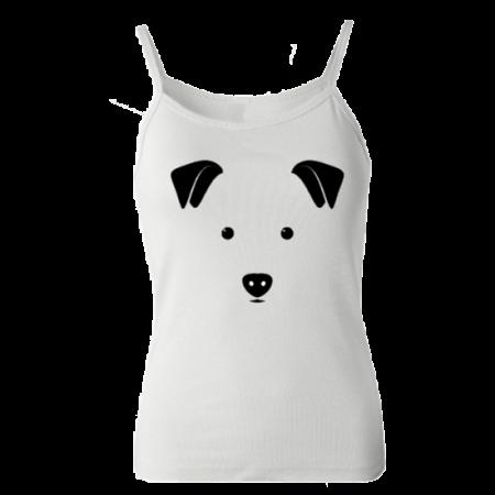 خرید جنس تاپ سفید طرح سگ 1