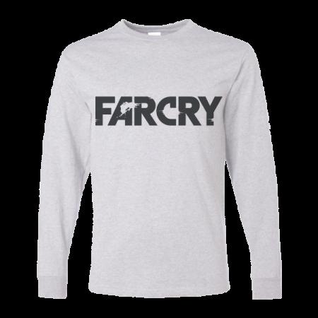 خرید تی شرت آستین بلند خاکستری طرح فارکرای