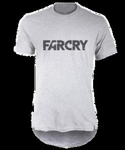 خرید تی شرت لانگ خاکستری طرح فارکرای