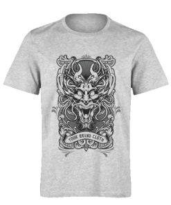 خرید تی شرت خاکستری طرح موجود افسانه ای 1